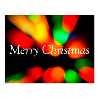 Christmas  blurred colorful bokeh postcard