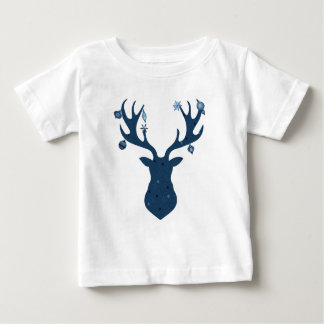 Christmas Boho Deer Head Baby T-Shirt
