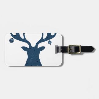 Christmas Boho Deer Head Luggage Tag