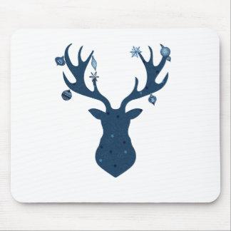Christmas Boho Deer Head Mouse Pad