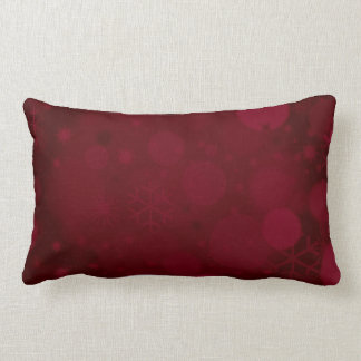 Christmas Bokeh, Burgundy/wine-Lumbar Throw Pillow
