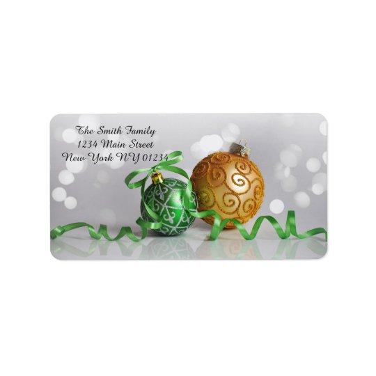 Christmas Bokeh Christmas Balls Label