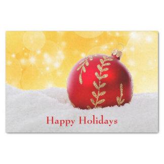 Christmas Bokeh Snow Christmas Ball Tissue Paper