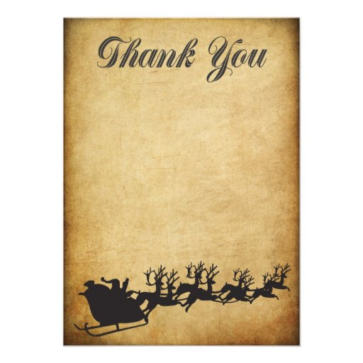 Christmas Bonus Holiday Thank You Card