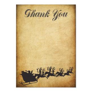 "Christmas Bonus Holiday Thank You Card 4.5"" X 6.25"" Invitation Card"