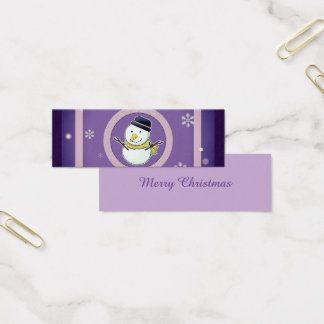 Christmas Bookmark Mini Business Card