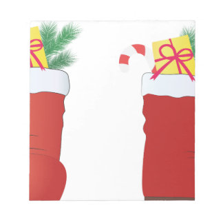 Christmas Boots Notepad