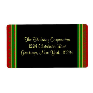 Christmas Border Address Labels