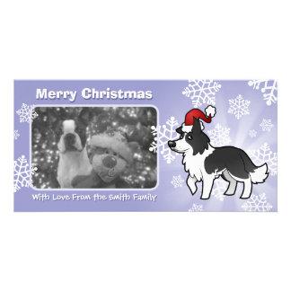 Christmas Border Collie Customised Photo Card