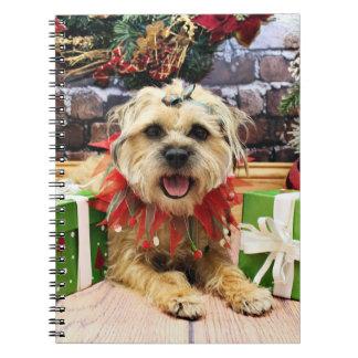 Christmas - Border Terrier - Reagan Note Book