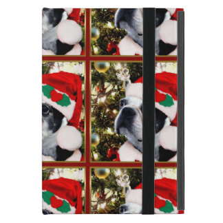 Christmas Boston Terrier dog Case For iPad Mini