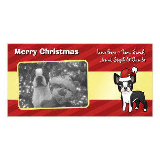Christmas Boston Terrier Photo Cards