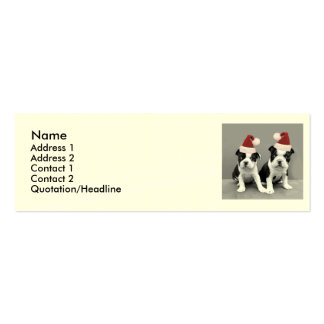 Christmas Boston Terrier puppies Pack Of Skinny Business Cards