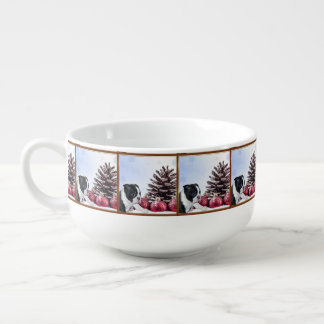 Christmas Boston Terrier Puppy Soup Mug