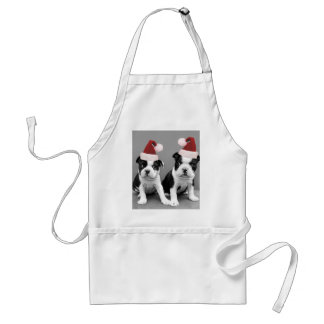 Christmas Boston Terriers Standard Apron