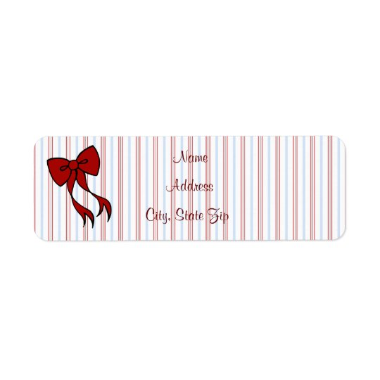 Christmas Bow Address Labels