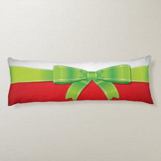 Christmas bow body cushion