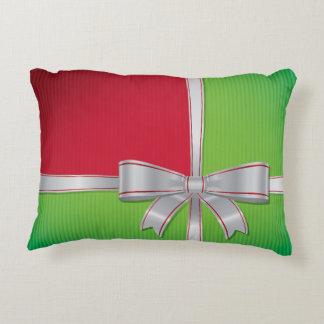 Christmas bow decorative cushion