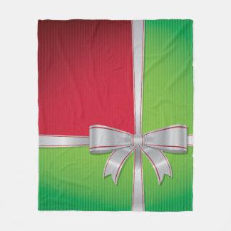 Christmas bow fleece blanket