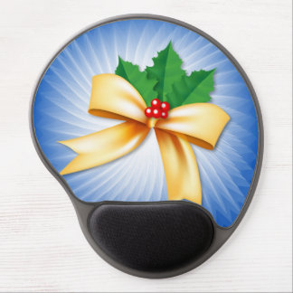 Christmas Bow Gel Mouse Mat
