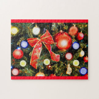 Christmas bow jigsaw puzzle