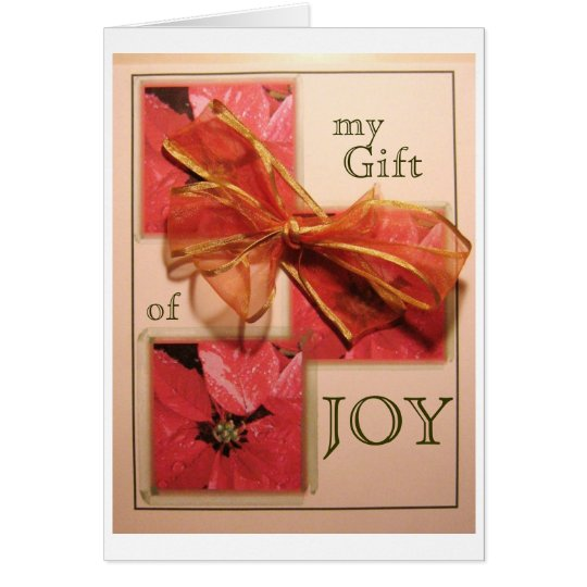 Christmas Bow Joy Card