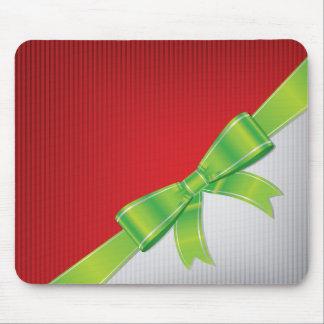 Christmas bow mouse pad