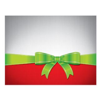 Christmas bow postcard