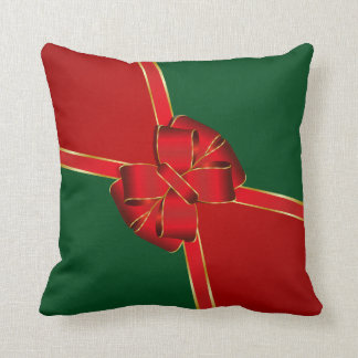 Christmas Bow Red and Green Cushions