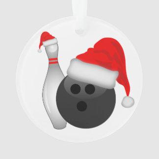 Christmas Bowling Ball and Pin