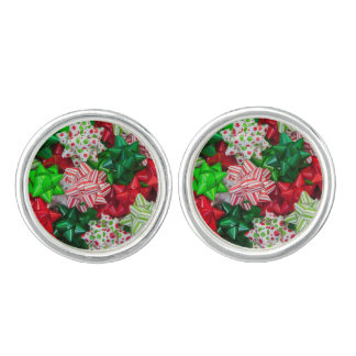 Christmas bows cuff links