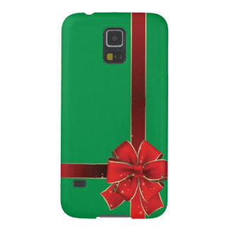 Christmas Bows Green Galaxy S5 Cover