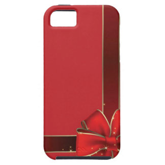 Christmas Bows Red Tough iPhone 5 Case