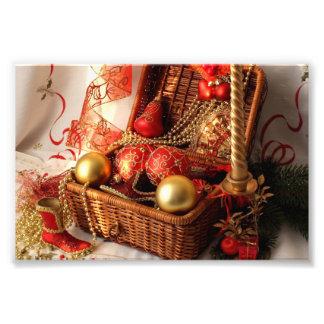 Christmas box - Christmas decorations Photo Print