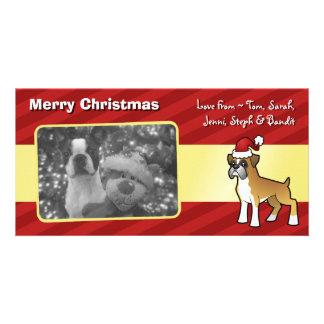 Christmas Boxer Custom Photo Card
