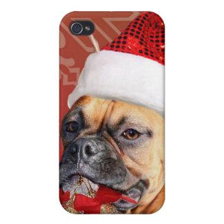 Christmas Boxer dog iPhone 4/4S Case
