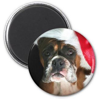 Christmas Boxer Dog Magnet