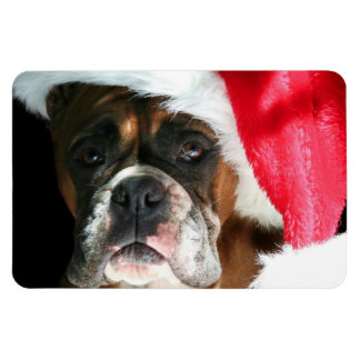 Christmas Boxer dog Flexible Magnets