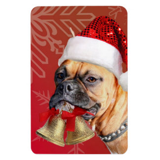 Christmas Boxer dog Rectangular Photo Magnet