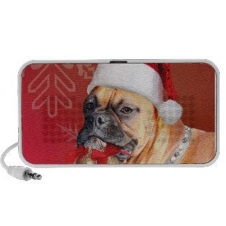 Christmas Boxer dog Portable Speakers
