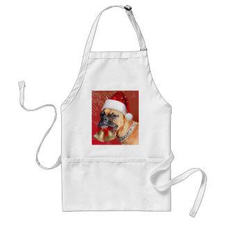 Christmas Boxer dog Standard Apron