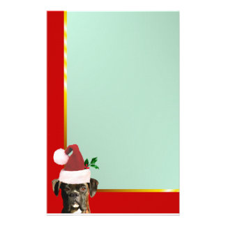Christmas boxer dog stationary stationery paper