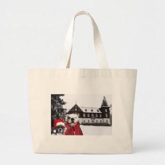 Christmas Boxer Dogs tote bag