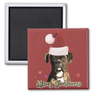 Christmas boxer magnet