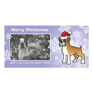 Christmas Boxer Personalised Photo Card