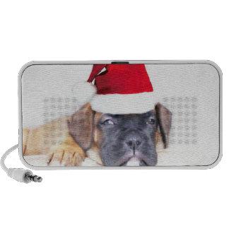 Christmas boxer puppy doodle speaker