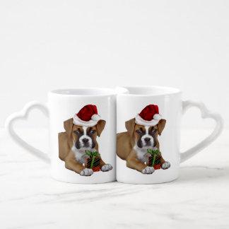 Christmas Boxer puppy Lovers Mug Set