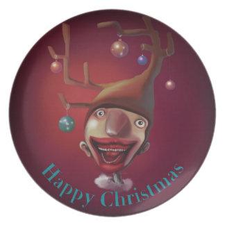 Christmas boy plate