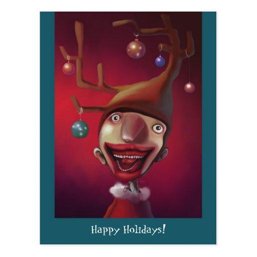 Christmas boy postcards