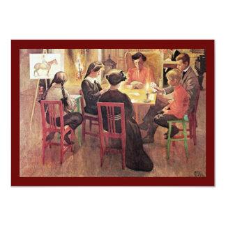 Christmas Break 1909 Card